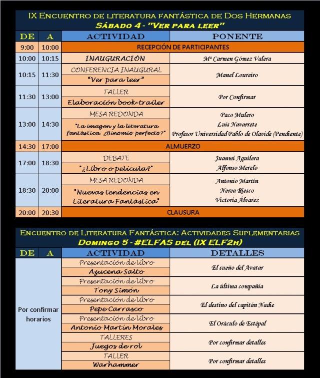 Adelanto programa ELF2h 2014